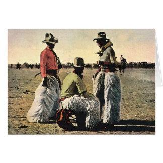 Grietas lanosas tarjeta de felicitación
