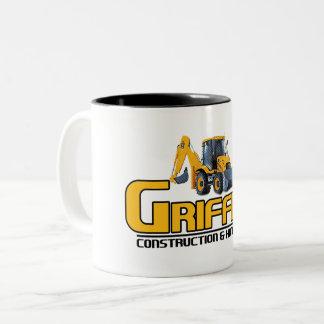Griffith Constructioin (ayuda de la compañía) Taza De Café De Dos Colores