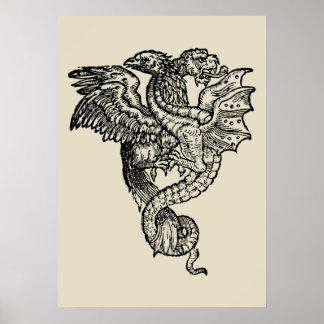 Griffon & Dragon Póster