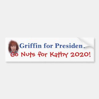 Grifo de Kathy para el presidente Pegatina Para Coche
