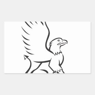 Griiffin que sienta retro lateral pegatina rectangular