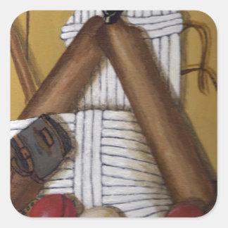 Grillo del vintage pegatina cuadrada