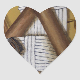 Grillo del vintage pegatina en forma de corazón