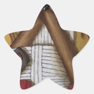 Grillo del vintage pegatina en forma de estrella
