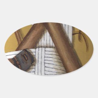 Grillo del vintage pegatina ovalada