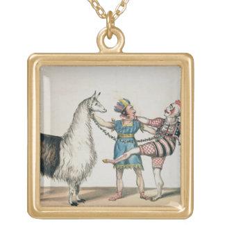 Grimaldi y la alpaca, en la pantomima popular collar dorado