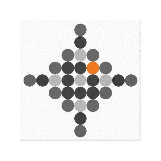 Gris + Arte geométrico anaranjado