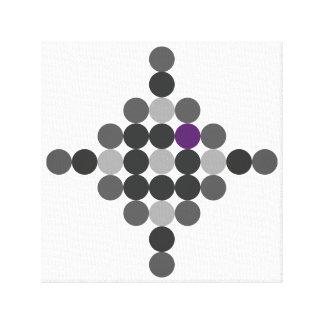 Gris + Arte geométrico púrpura
