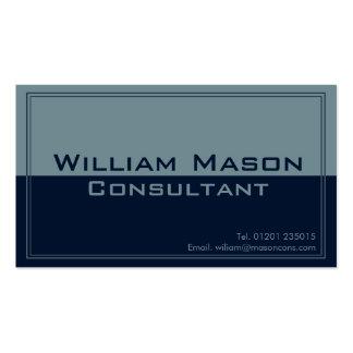 Gris azul de dos tonos, tarjeta de visita profesio