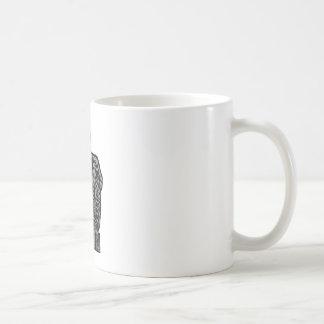 Gris británico del lv del caballo del emblema el taza básica blanca