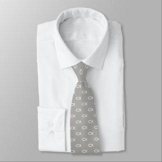 Gris cristiano blanco del modelo el | del símbolo corbata