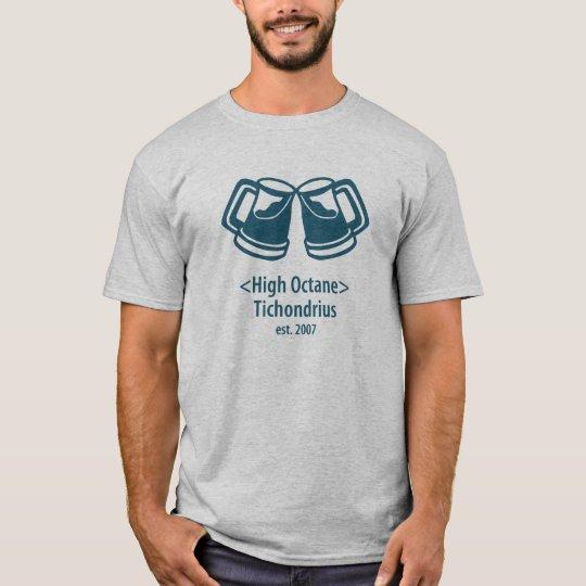 Gris de alto octanaje de la camiseta