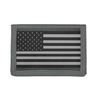 Gris de la cartera de Camo de la bandera americana