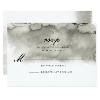 GRIS de la tarjeta de contestación del boda de la