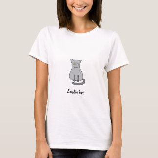 Gris del gato del zombi camiseta