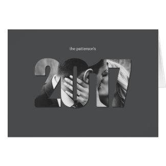 Gris Editable simple de la tarjeta de felicitación
