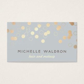 Gris elegante del artista de maquillaje de la tarjeta de visita