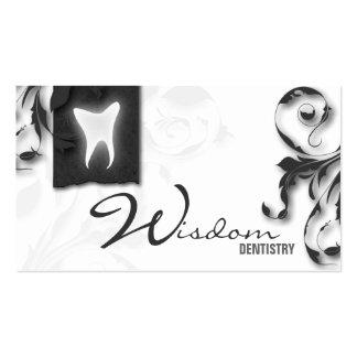 Gris elegante del monograma de la tarjeta de visit tarjetas de visita
