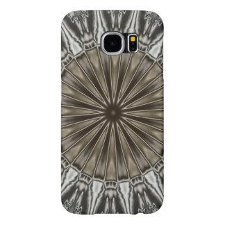 Gris elegante elegante de Brown del diseño del Funda Samsung Galaxy S6