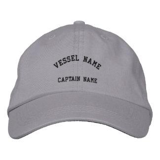 Gris fresco bordado buque del casquillo de los cap gorra de béisbol bordada