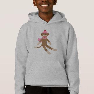 gris/gris del suéter con capucha del mono del