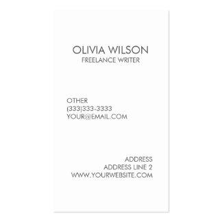 Gris limpio llano y blanco profesionales tarjeta de negocios