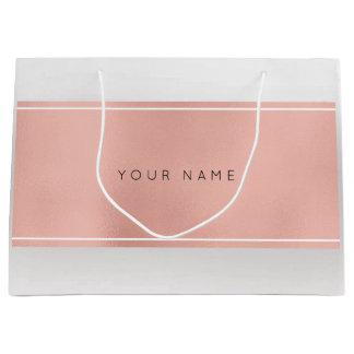 Gris mínimo metálico del regalo del polvo color de bolsa de regalo grande