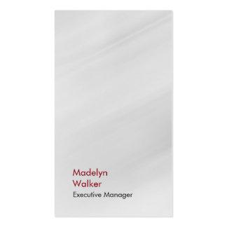 Gris moderno único elegante vertical tarjetas de visita