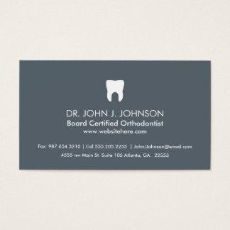 Gris pizarra profesional de la odontología tarjeta de negocios