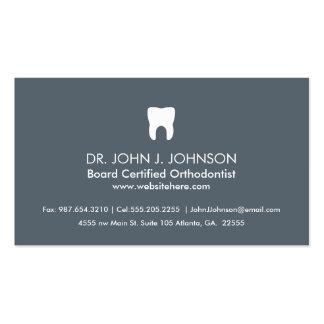 Gris pizarra profesional de la odontología tarjetas de visita
