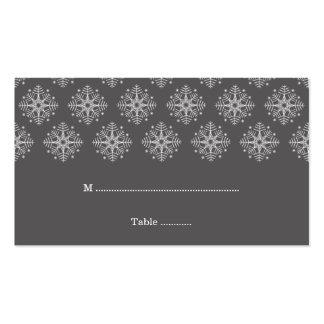 Gris + tarjeta blanca del lugar del boda del invie tarjetas personales