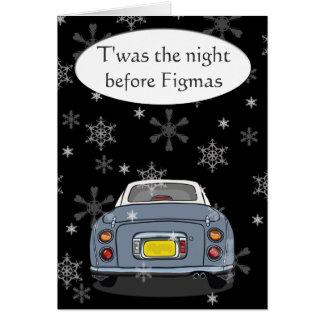 """Gris """"Twas la noche antes tarjeta de Navidad de"""