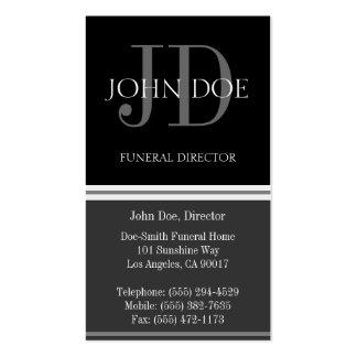 Gris vertical del director de funeraria tarjeta de visita