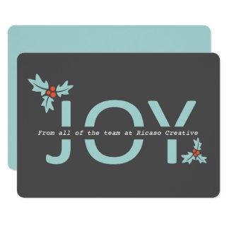 Gris y alegría y acebo personalizados de la invitación 12,7 x 17,8 cm