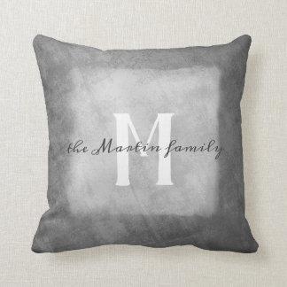 gris y blanco de encargo de la almohada del