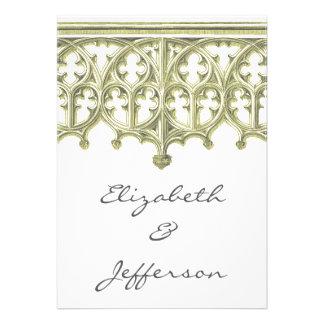 Gris y invitaciones del boda de la catedral de But