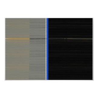 Gris y negro invitación 8,9 x 12,7 cm