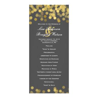 Gris y programa moderno del boda del centelleo del