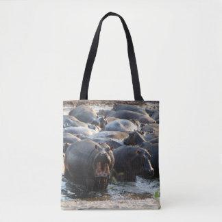 Griterío de la bolsa de asas del hipopótamo