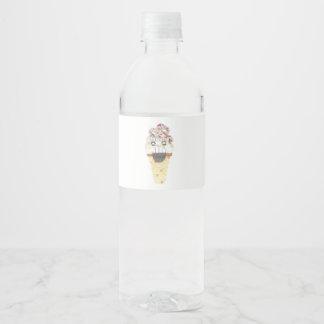 Grito etiquetas de la botella de agua