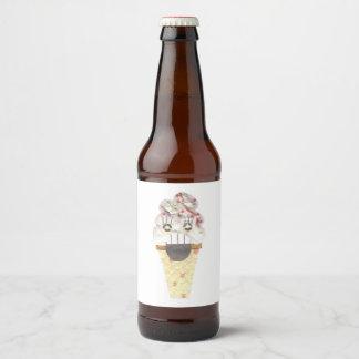 Grito etiquetas de la cerveza