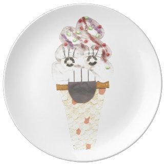 Grito la placa de la porcelana plato de porcelana