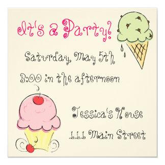 ¡Grito! ¡no, helado! Invitaciones Invitación 13,3 Cm X 13,3cm