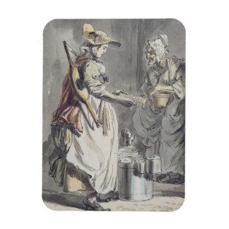 Gritos de Londres: Una lechera, c.1759 (pluma y ce Imán Rectangular