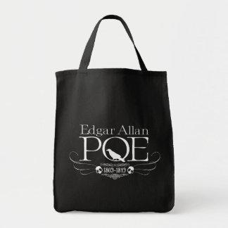 """Grocery Tote """"Edgar Allan Poe"""" Bolsa Tela Para La Compra"""