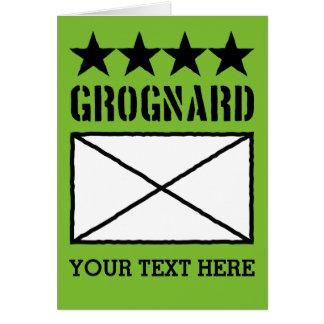 Grognard de cuatro estrellas tarjeta de felicitación