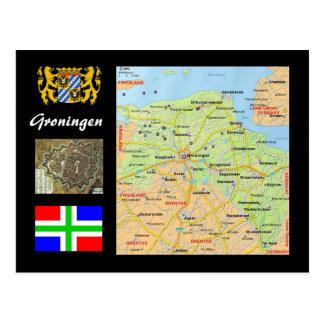 Groninga el mapa holandés postal