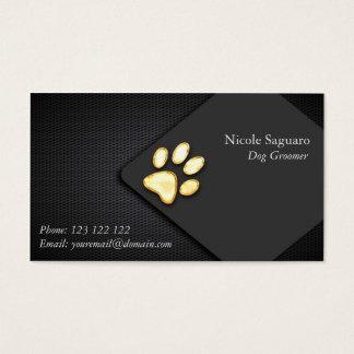Groomer del adiestrador de perros tarjeta de negocios