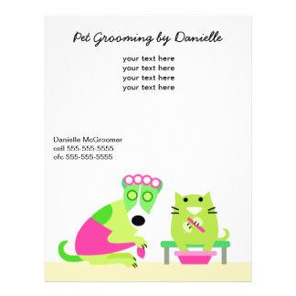 Groomer del mascota promocional folleto 21,6 x 28 cm