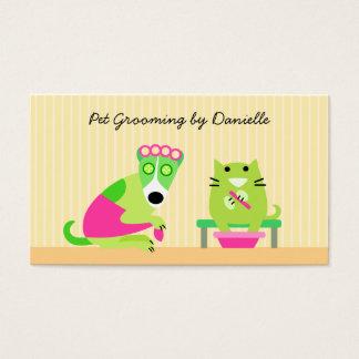 Groomer del mascota tarjeta de negocios